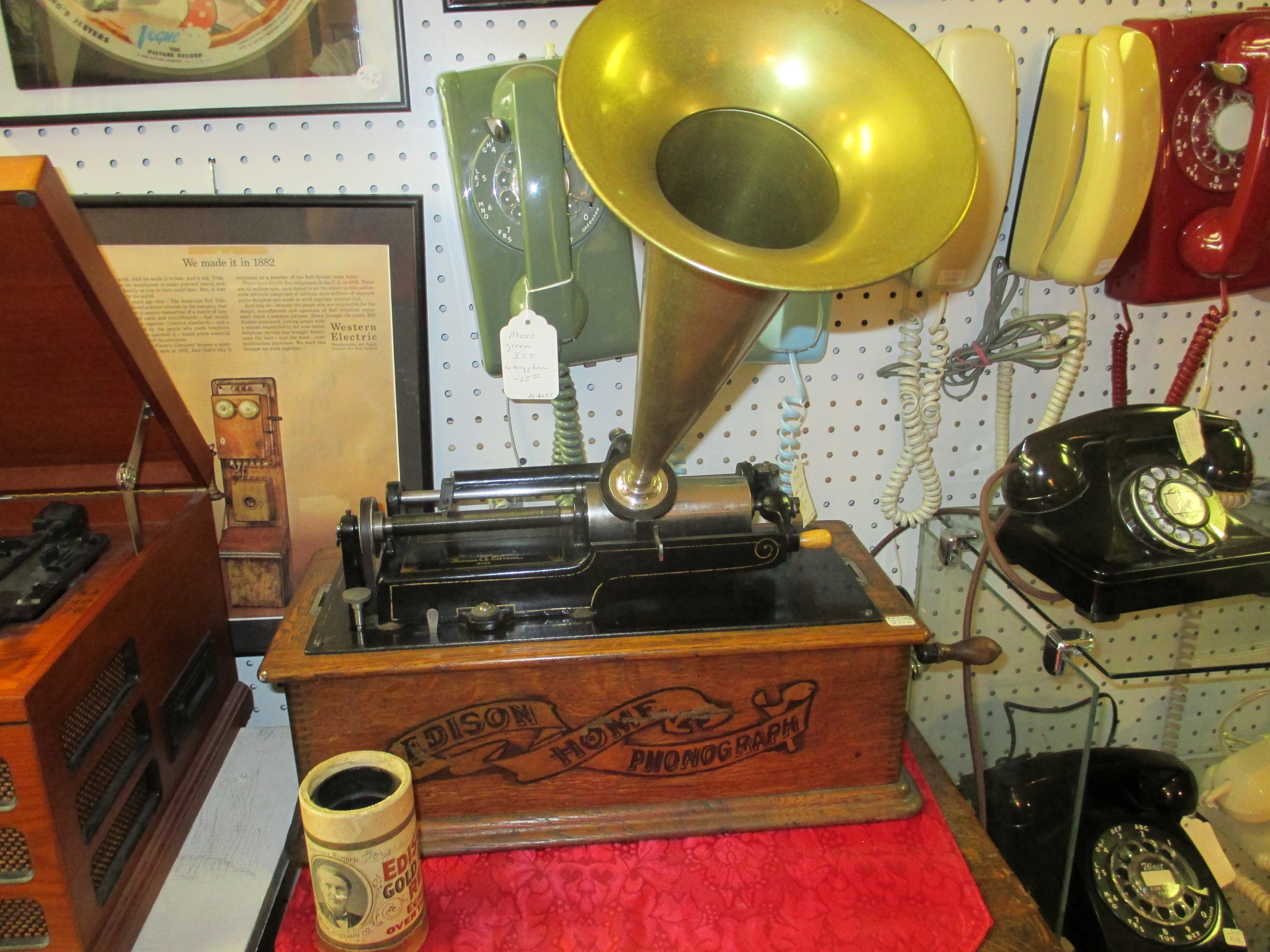 Edison Home Model A banner type c 1903 $995